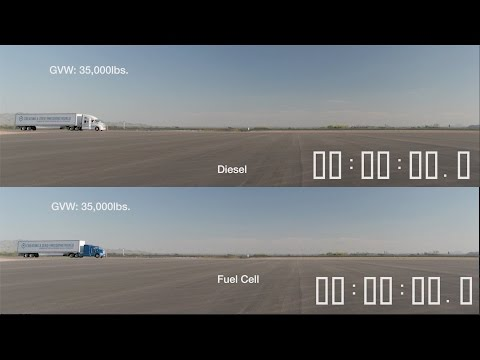 Diesel Truck vs Fuel Cell Truck [YOUCAR]