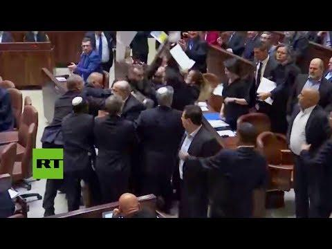 Una riña interrumpe el discurso de Mike Pence ante el Parlamento israelí