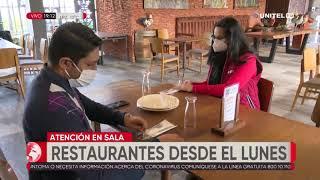 Desde el lunes y hasta las 17:00, restaurantes en Santa Cruz reabrirán sus puertas
