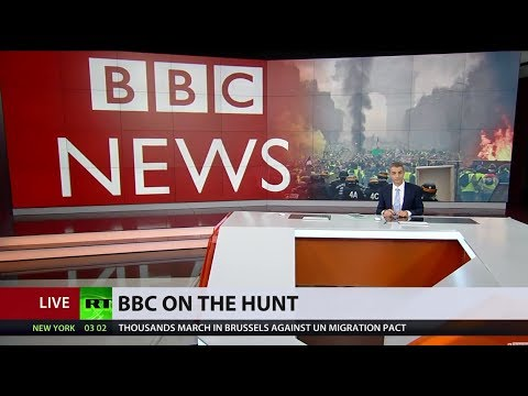 'Editors out for blood': BBC on the hunt for Moscow link to Yellow Vest protests
