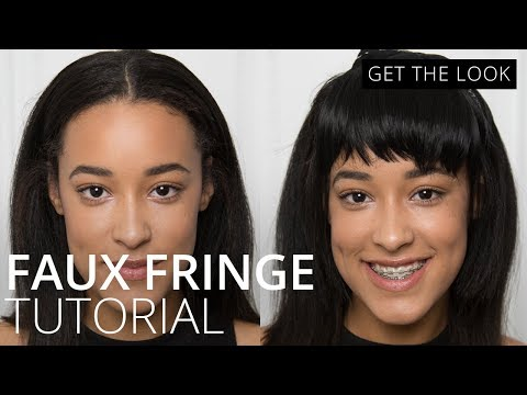 feelunique.com & Feel Unique Voucher Code video: How to do a Faux Fringe |How To | Feelunique