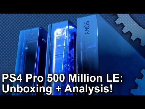 PS4 Pro 500 Million Limited Edition Unboxing! Plus: Are New Pros Quieter Than Launch Consoles?