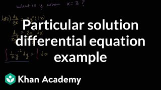 Particular solution to differential equation example