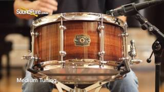 Metro Drums 7x13 Karri Ply Snare with Flamed Jarrah Gloss, Quick n' Dirty