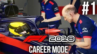 F1 2018 Career Mode Gameplay Walkthrough Part 1 - PICKING MY FIRST TEAM