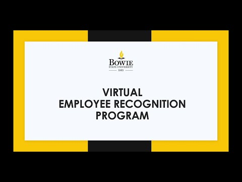 Bowie State University Employee Recognition Program