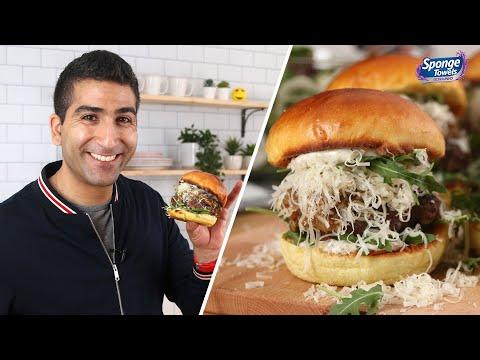 French Onion Burgers With Truffle Mayo // Presented by BuzzFeed & SpongeTowels