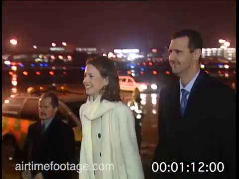 connectYoutube - al-Assad and his wife Asma arrive in London - rushes