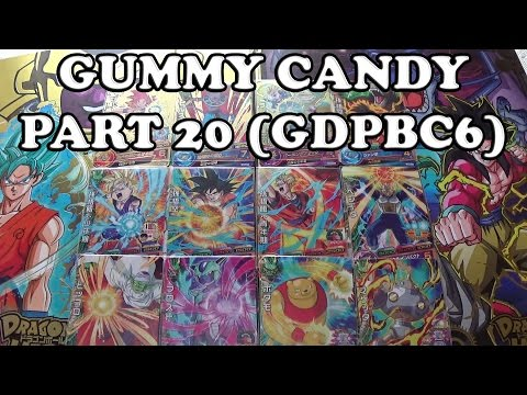 Dragon Ball Heroes Gummy Candy Part 20 Complete Set Unboxing GDPBC6 God Mission GDM