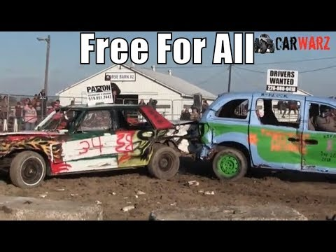 Free For All Class At Brigden Fair Demolition Derby 2018