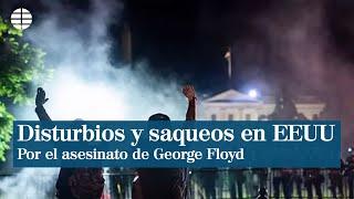 Manifestantes y gas lacrimógeno frente a la Casa Blanca por el asesinato de George Floyd