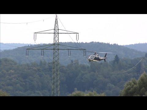 DonauTV: Vogelschutzmaßnahme für Stromleitungen per Helikopter