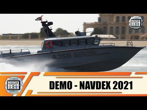 NAVDEX 2021 live demonstrattion naval defense exhibition in Abu Dhabi United Arab Emirates