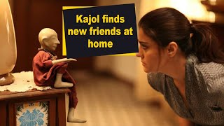 Kajol finds new friends at home - IANSINDIA
