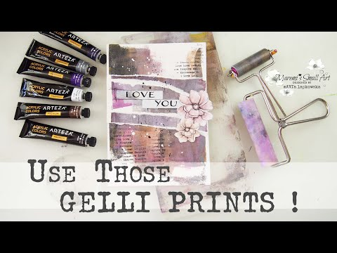 Gelli Printing + Art Journal Page ✂️ Maremi's Small Art