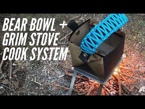 Bare Bones Stove + Bear Bowl: Pocket-Sized Cooking Kit from Grim Workshop & Bear Minimum