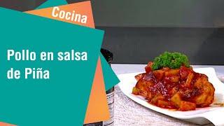 Receta de Secretos de Cocina de Unilever: Pollo en salsa de Piña