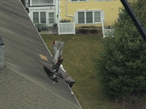 Raw: Plane Removed From Massachusetts Rooftop