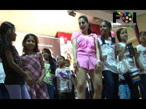 Ameesha Patel Shakes A Leg With Kids