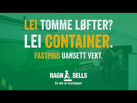 Lei tomme løfter? Lei container.