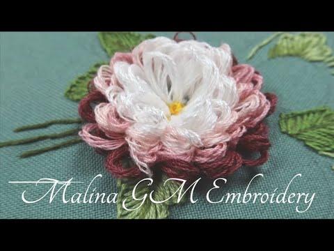 Garden Embroidery: Aster Flower || Цветочная вышивка : Садовая Астра