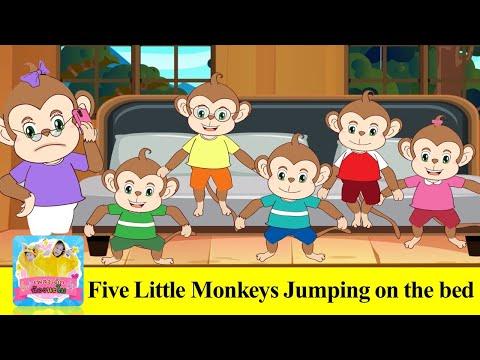 ลิง5ตัวกระโดดบนเตียง- -Five-Li