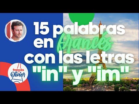 """Aprende francés en 30 días: 15 palabras con las letras """"in"""" + """"im"""" - Clase 28"""
