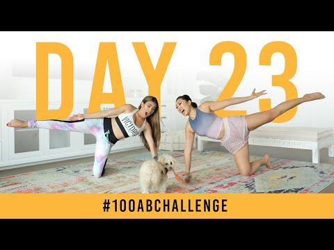 Day 23: 100 Kneeling Side Squeezes!   #100AbChallenge w/ Adelaine Morin