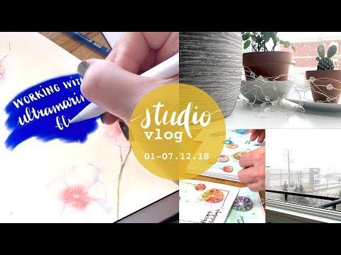 studio vlog : dec.18 week 1