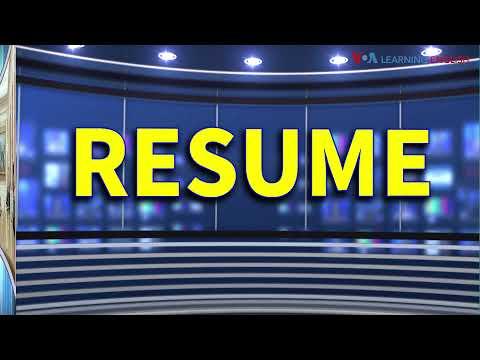 News Words: Resume
