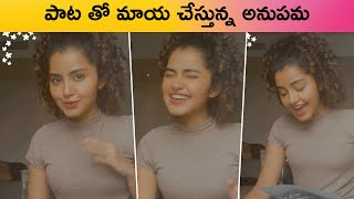 Anupama Parameswaran Singing A Beautiful Song | Anupama Parameswaran Melodies Voice | Rajshri Telugu - RAJSHRITELUGU