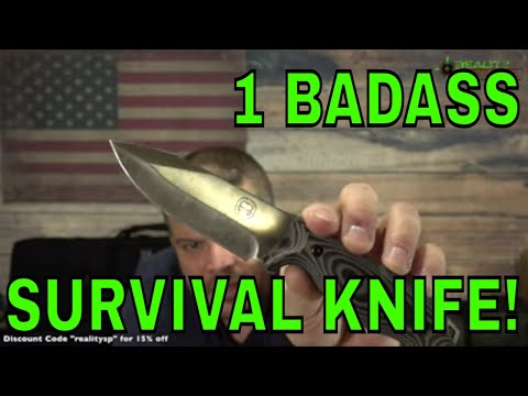 Holtzman's Gorilla Survival Knife Review - D2 Silverback - Long Version