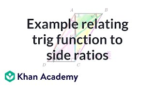 Example relating trig function to side ratios