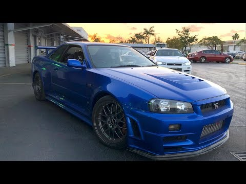 "RAREST Skyline R34 GTR's in the World""! 6K Miles on the Clock!"