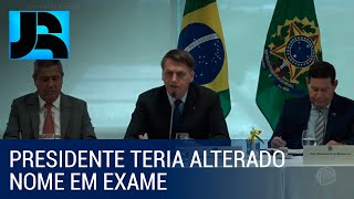 Presidente Bolsonaro fala sobre exame de coronavírus feito por ele em vídeo de reunião ministerial