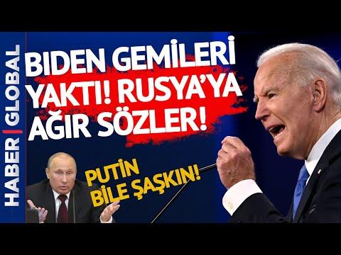 Putin Çok Şaşkın! Biden Gemileri Yaktı! 'Ağır' Rusya Açıklaması!