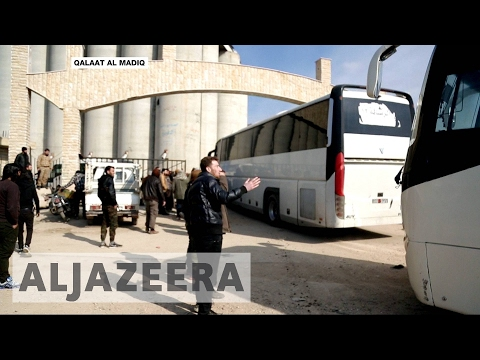 Syrian army evacuates Wadi Barada near Damascus