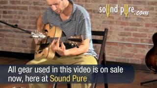 Eastman AR880CE Blonde John Pisano Signature Archtop Guitar Demo #4450