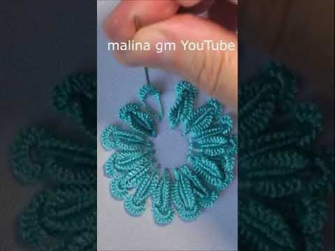 blue daisy dimensional embroidery tutorial #shorts
