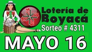 Resultados lotería de Boyaca 16 de Mayo de 2020