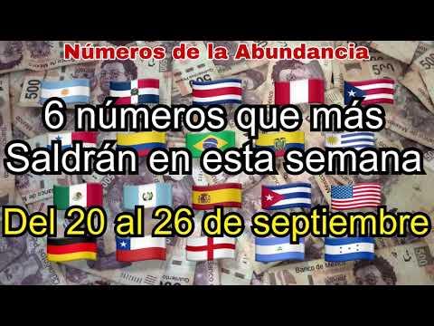 6 NÚMEROS QUE MÁS SALEN EN LA SEMANA DEL 20 AL 26 DE SEPTIEMBRE DEL 2021