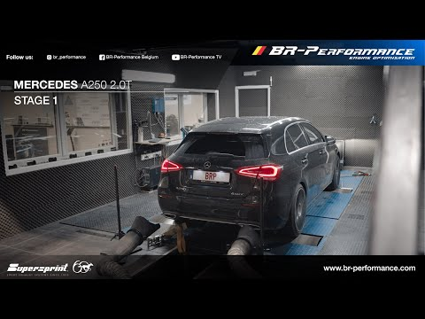 Mercedes A250 2.0T / Stage 1 By BR-Performance / Supersprint OPF Delete