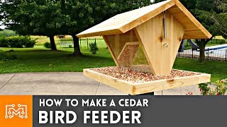 How to Make a Bird Feeder // Woodworking