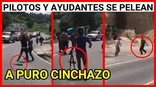 Viral Guatemala, Pilotos y ayudantes se pelean a puro cinchazo