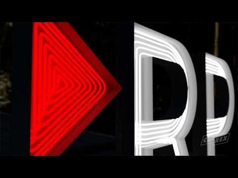 Clarex 3D visualisering - RP fasadskyltskoncept
