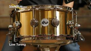 DW 6.5x14 Collectors Series Polished Brass Snare Drum Quick 'n' Dirty
