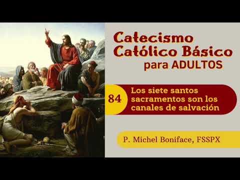 84 Los siete santos sacramentos son los canales de salvacion