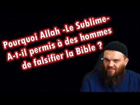 ALLAH A PERMIS A DES HOMMES DE FALSIFIER SES REVELATIONS PRECEDENTES : TORAH ET EVANGILE
