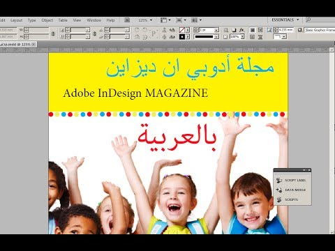 How to write arabic in indesign cs4