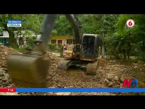 Cabeza de agua que bajó por el Río Turrialba obligó a quitar maquinaria